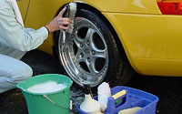 keep your alloy wheels clean
