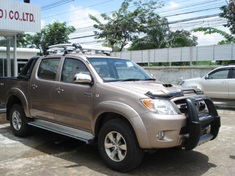 new Toyota Hilux Vigo Double Cab with A-bar at Thailand's top Toyota Hilux Vigo dealer Soni Motors Thailand